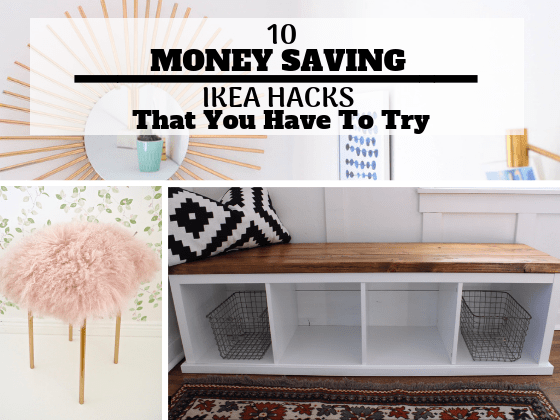 10 Money Saving Ikea Hacks That You Need To Try (With Awesome Tutorials) Ikea hack, home decor, DIY, DIY Home decor, Home Decor on a budget