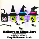 Halloween Slime Tutorial... an easy slime recipe for kids, make these cute halloween slimes with this slime recipe with glue. halloween crafts for kids, how to make halloween slime without borax, spooky slime
