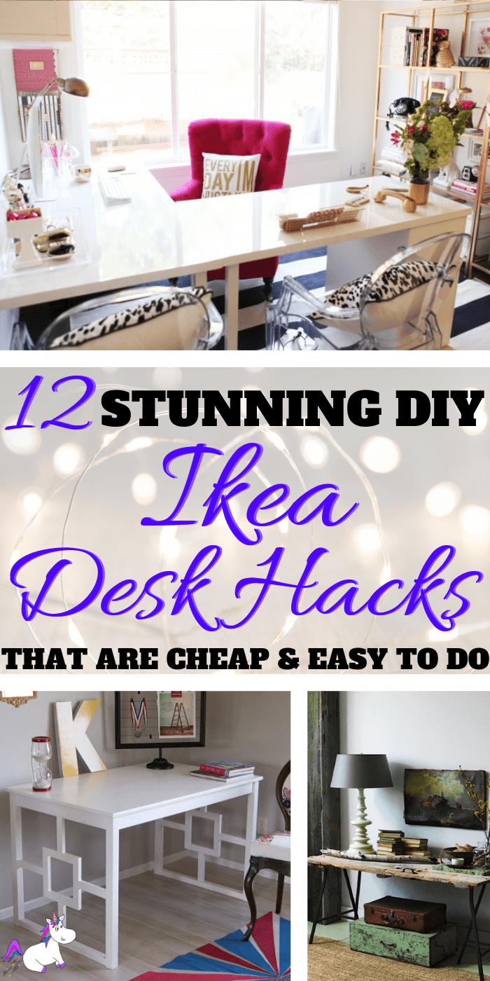 12 Stunning DIY Ikea Desk Hacks That Are Cheap & Easy To Do   home decor inspiration   diy projects   diy home decor   ikea hack   home office ideas   office inspiration Via: https://themummyfront.com #themummyfront #diyprojects #homeofficeideas #homeofficedecor #ikeahacks #ikeadeskhacks