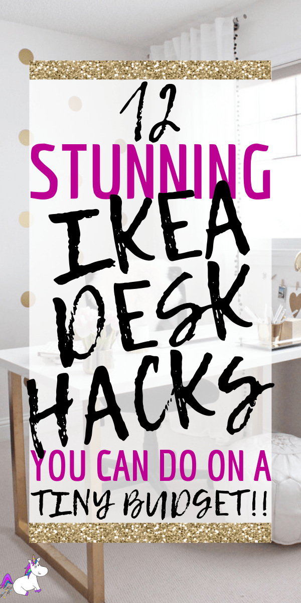 12 Stunning Ikea Desk Hacks You Can Do On A Tiny Budget | Ikea hacks | DIY home decor | ikea furniture | ikea furniture hacks | Ikea DIY | Via: https://themummyfront.com #themummyfront #ikeahacks #homedecorinspiration #ikeadiy #ikeahacks #ikeadeskhack #diydesk #desksetup #deskdecor
