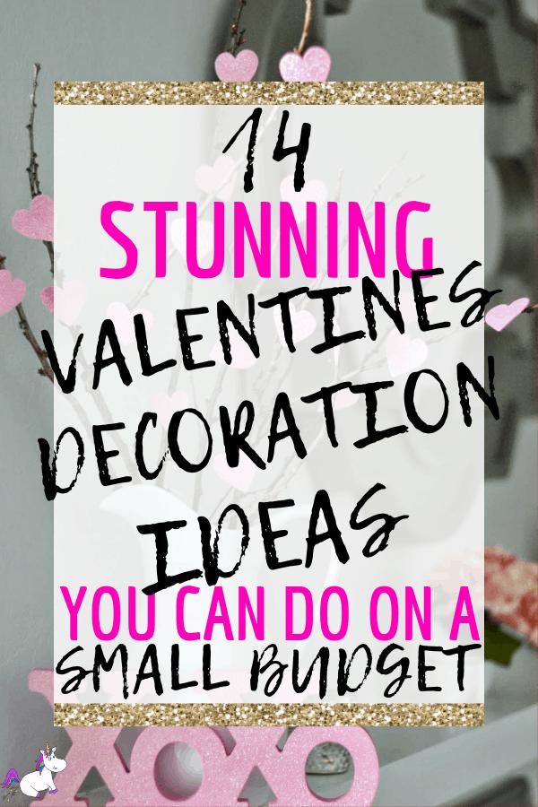 14 Stunning Valentines Day Home Decor Ideas You Can Do On A Tiny Budget   #valentinesdaydecor   #valentinesday   #themummyfront Via: https://themummyfront.com #valentinesideas