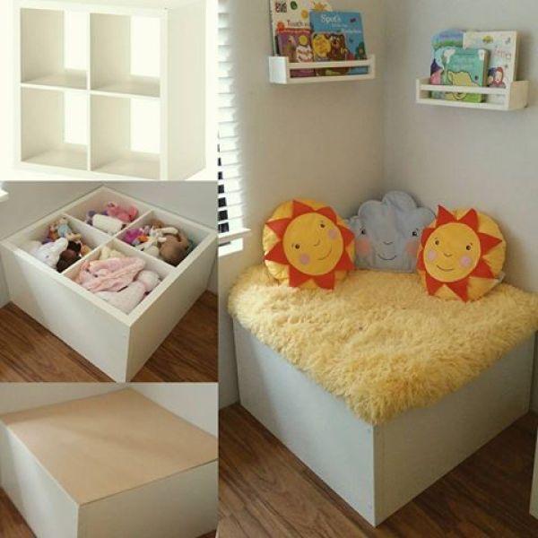 Ikea Kallax Reading nook & storage