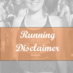 running disclaimer