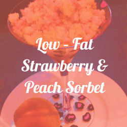 Strawberry & Peach Sorbet - frozen fruit recipes, uses and tips