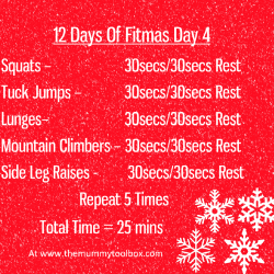 The 12 Days of Fitmas Day 4
