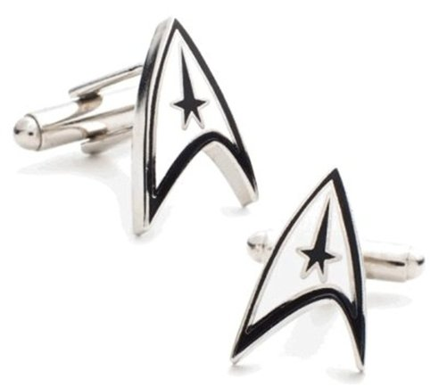 star trek cufflinks - geeky gift guide
