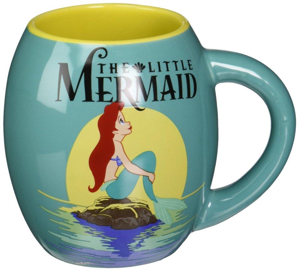 little mermaid oval mug