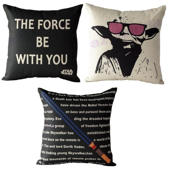 star wars pillows - geeky gift guide