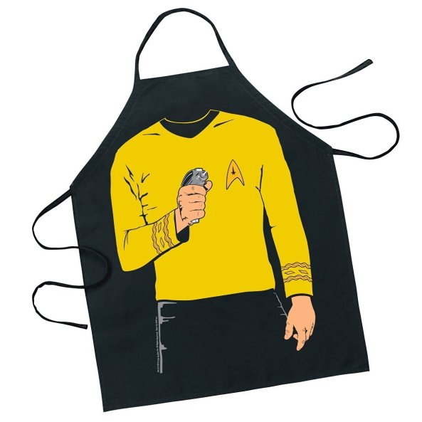 captain kirk apron - geeky gift guide