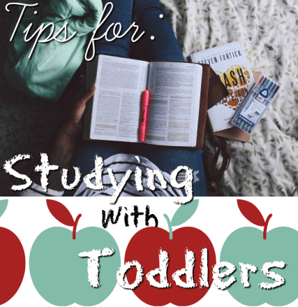 tips for studying with toddlers feature