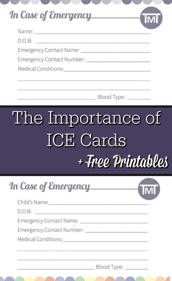 Safety is important, for runners particularly so here's the low down on what ICE cards are, how you use them and free printables to keep your family safe.