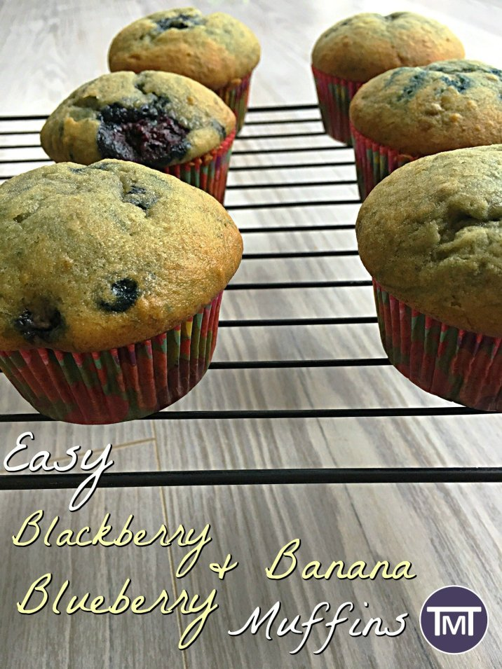 I have been experimenting with fruit in baking and these easy blackberry, blueberry & Banana muffins have turned out really nicely!