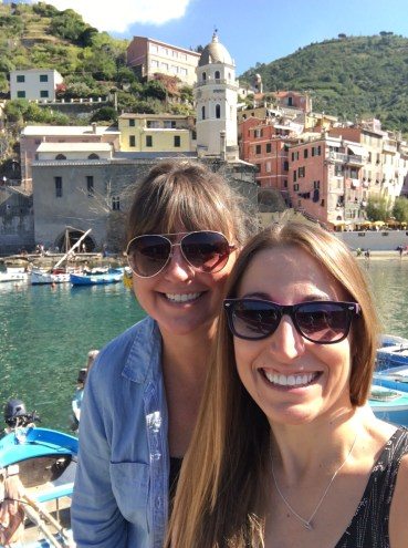 My love and I in Vernazza