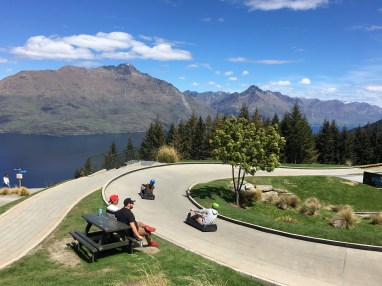 The luge at the top of Bobs Peak