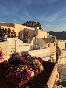Buttload of people in Santorini