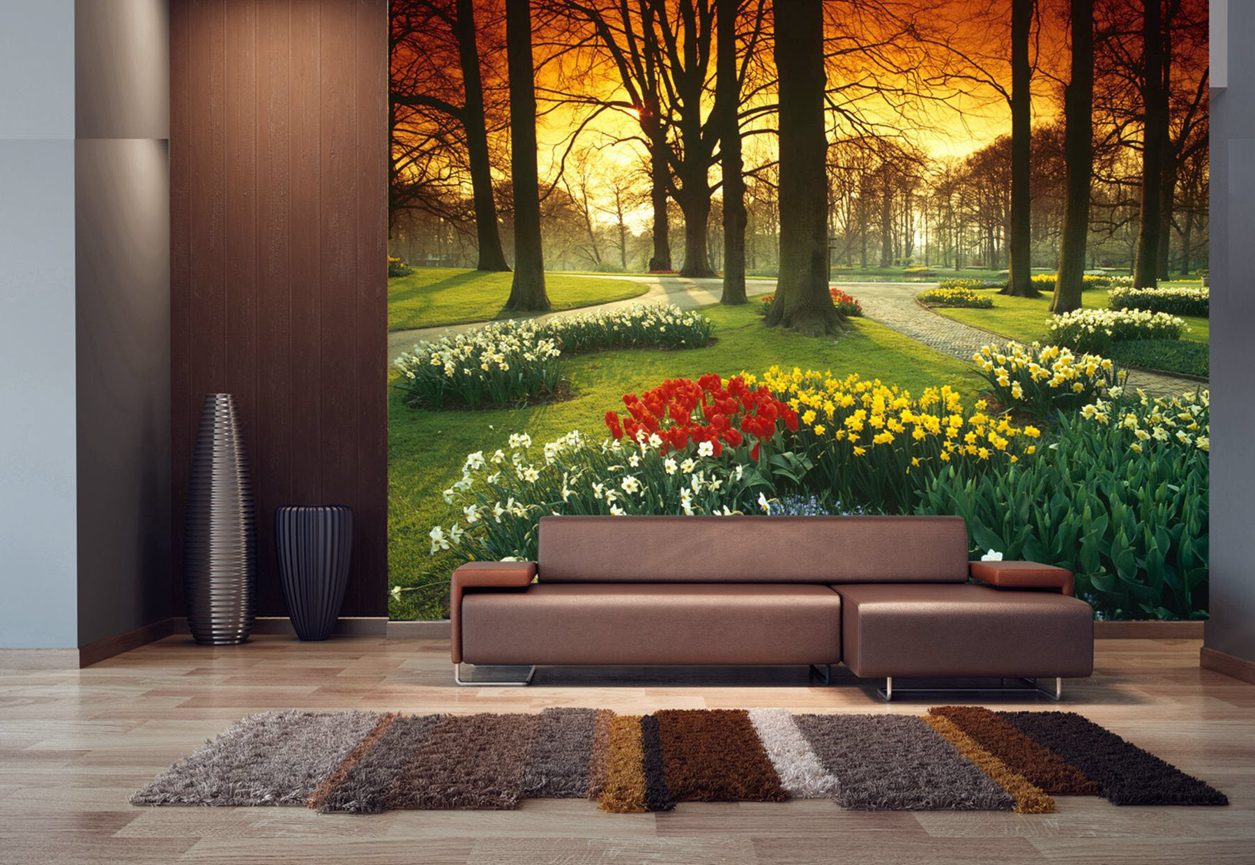 Floral Sunset Pr Wall Mural Full Size Large Wall