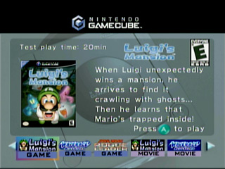 TMK The Games GameCube Interactive Multi Game Demo Disk October 2001