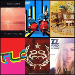 Calvin Harris, Superfruit, Washed Out, TLC, Stone Sour, ZZ Ward © Columbia, RCA, Stones Throw, 852 Musiq, Roadrunner, Hollywood