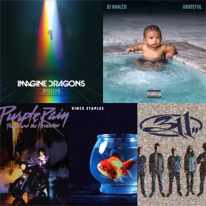 Imagine Dragons, DJ Khaled etc © Interscope, Epic, Warner Bros., Def Jam, BMG)