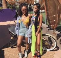 Serayah and Jhene Aiko at Coachella