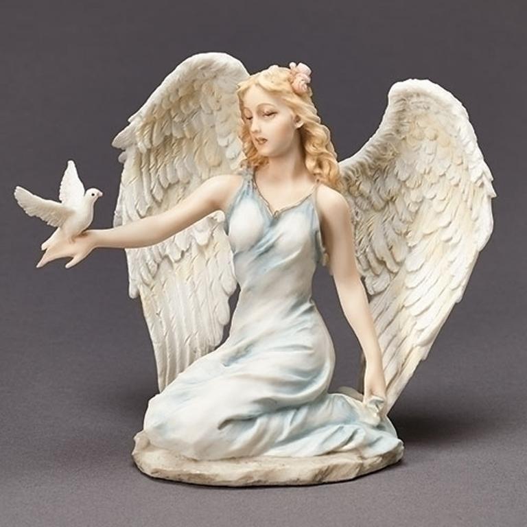 Kneeling Angel with Dove