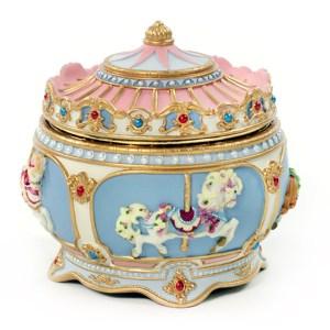 Carousel Horse Musical Trinket Box