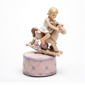 Girl on Rocking Horse