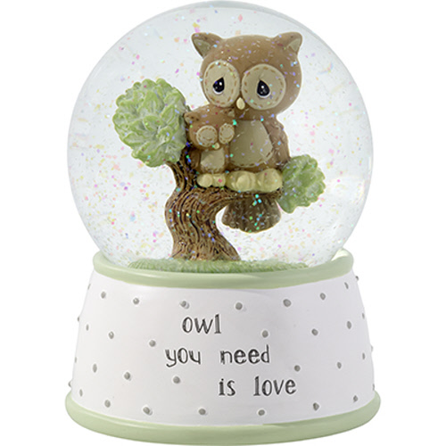 Owl Musical Water Globe