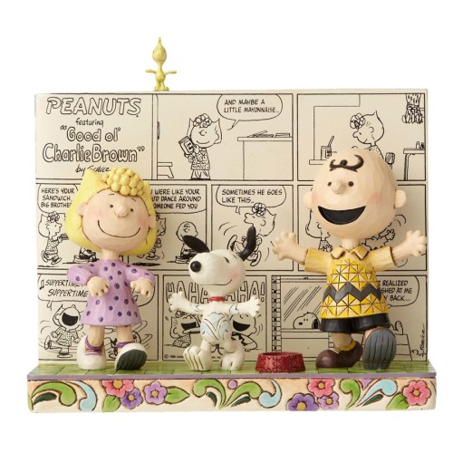 Peanuts Happy Dance Comic Strip 3D figurine by Jim Shore