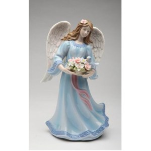 Porcelain Angel with Flower Basket