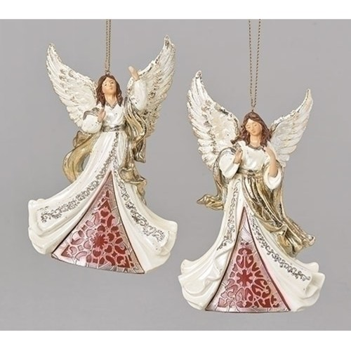 Angel Ornaments red and white