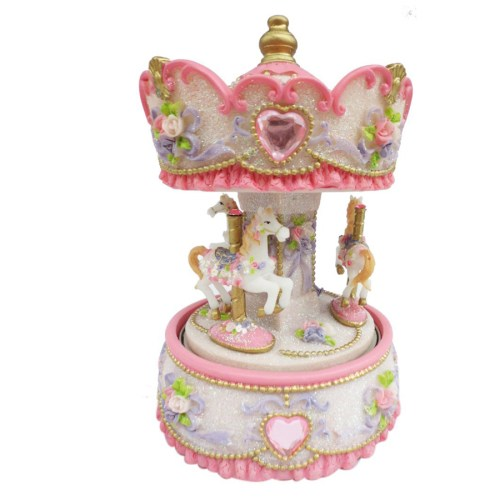 Small Carousel with Hearts 14231