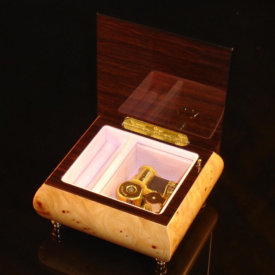 Italian Jewelry Box Elm 17Rose opened no cover