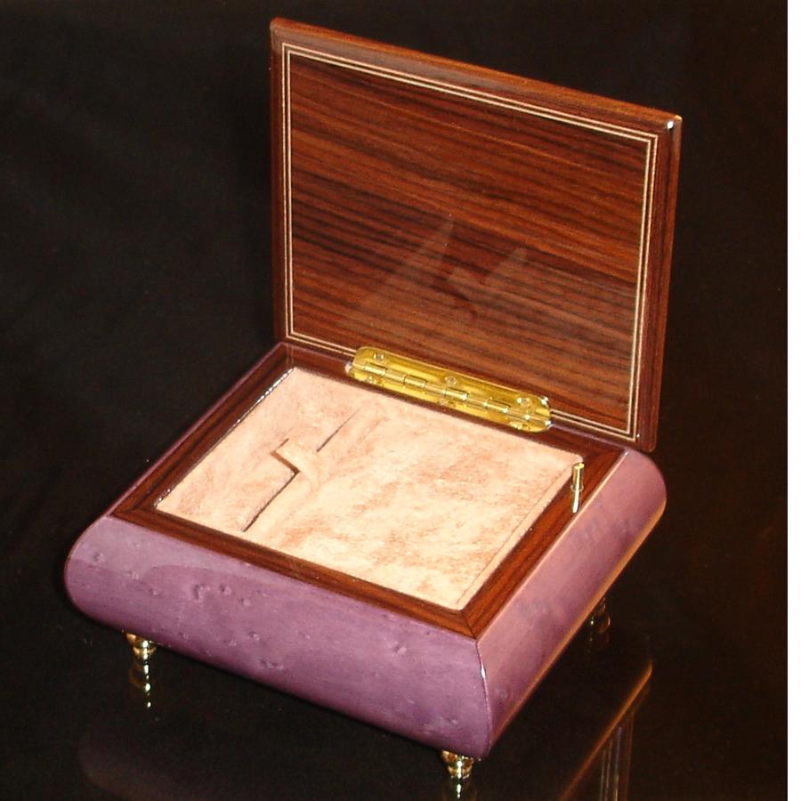 Italian Jewelry Box Plum 17A opened