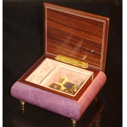 Italian Jewelry Box Plum 17A opened no cover