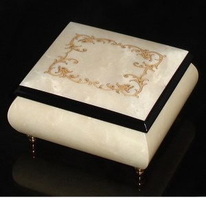 Italian Jewelry Box White 17A