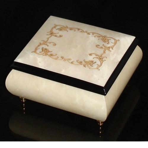 Italian Jewelry Box White 17A