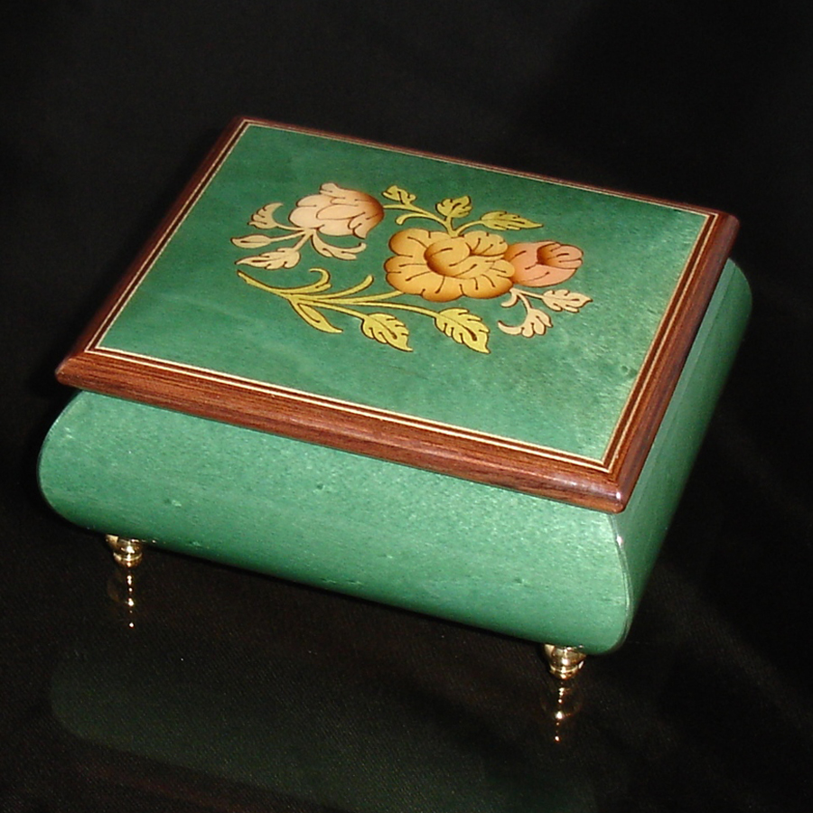 Italian Jewelry Box Green 17CF