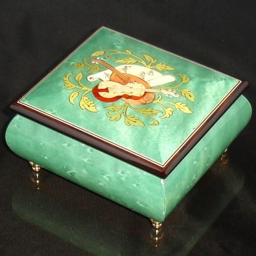 Italian Jewelry Box Green 17CVM