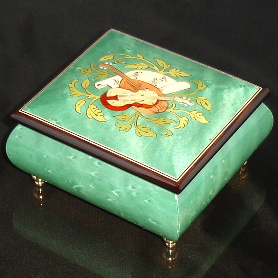 Italian Jewelry Box Green 17CVM