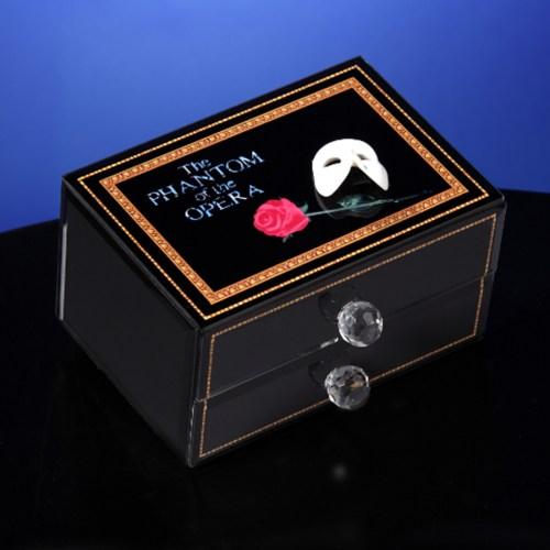 Phantom large musical glass jewelry box 50193
