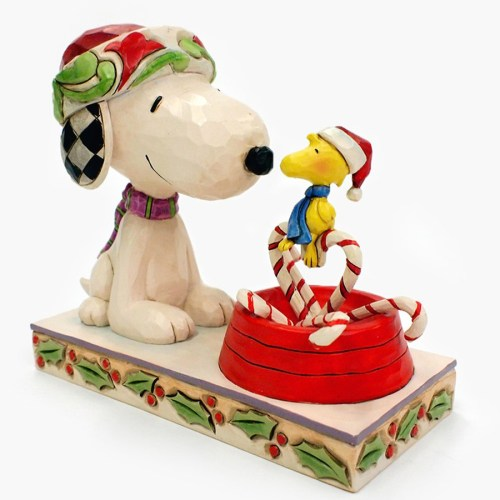 Snoopy Candy Cane Christmas front view