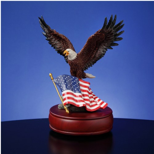 Musical Eagle with American Flag