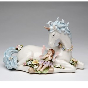 Porcelain musical Unicorn and Fairy