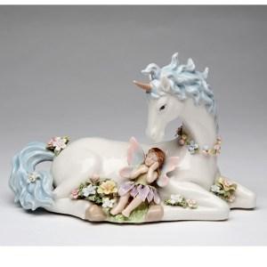 Porcelain musical Unicorn and Fairy