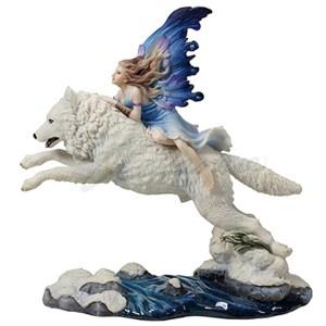 Leap of Faith Fairy riding wolf