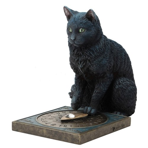His Masters Voice figurine black cat and ouija board