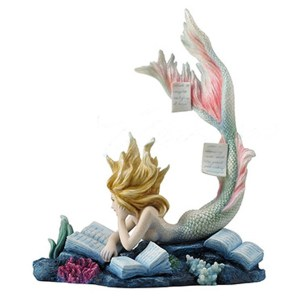 Lost Books Mermaid figurine side view