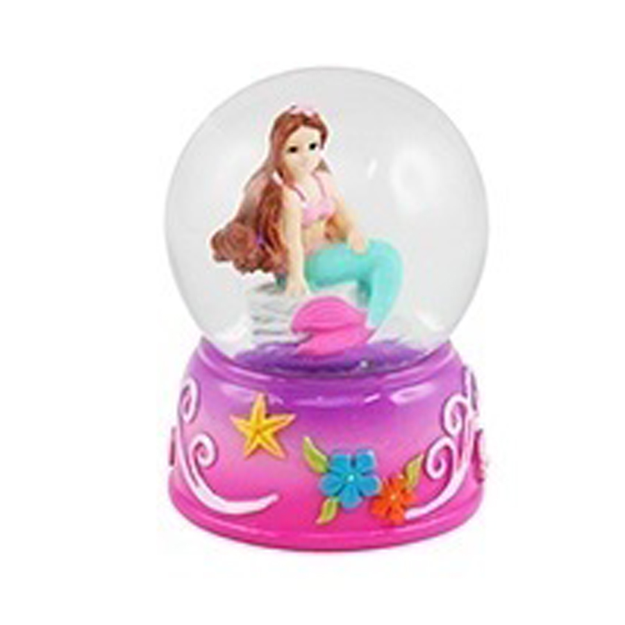 Mini Red Head Mermaid water globe