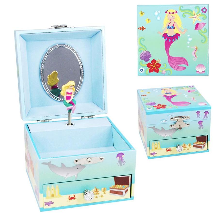 Summer Mermaid musical jewelry box
